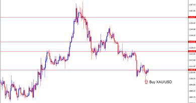Buy XAUUSD gold forex signal after pinbar candlestick form