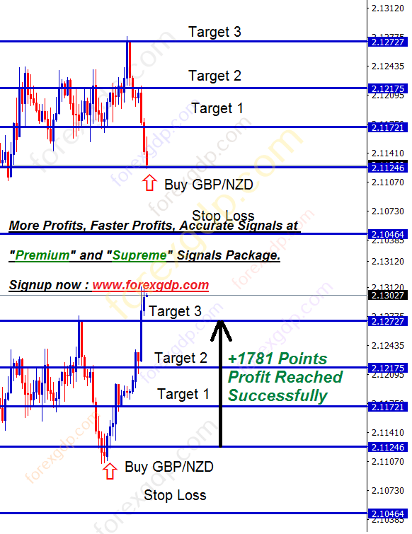 GBPNZD rebound strategy from support level