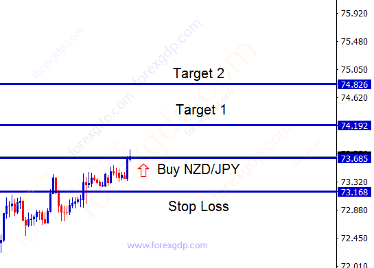 nzd jpy buy forex signal with 2 take profit targets
