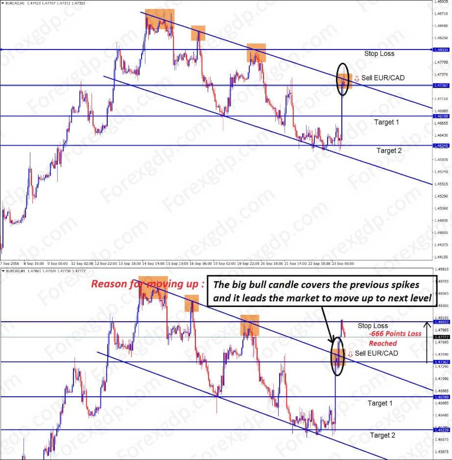 eurcad bull breakout in flag chart pattern during up trend