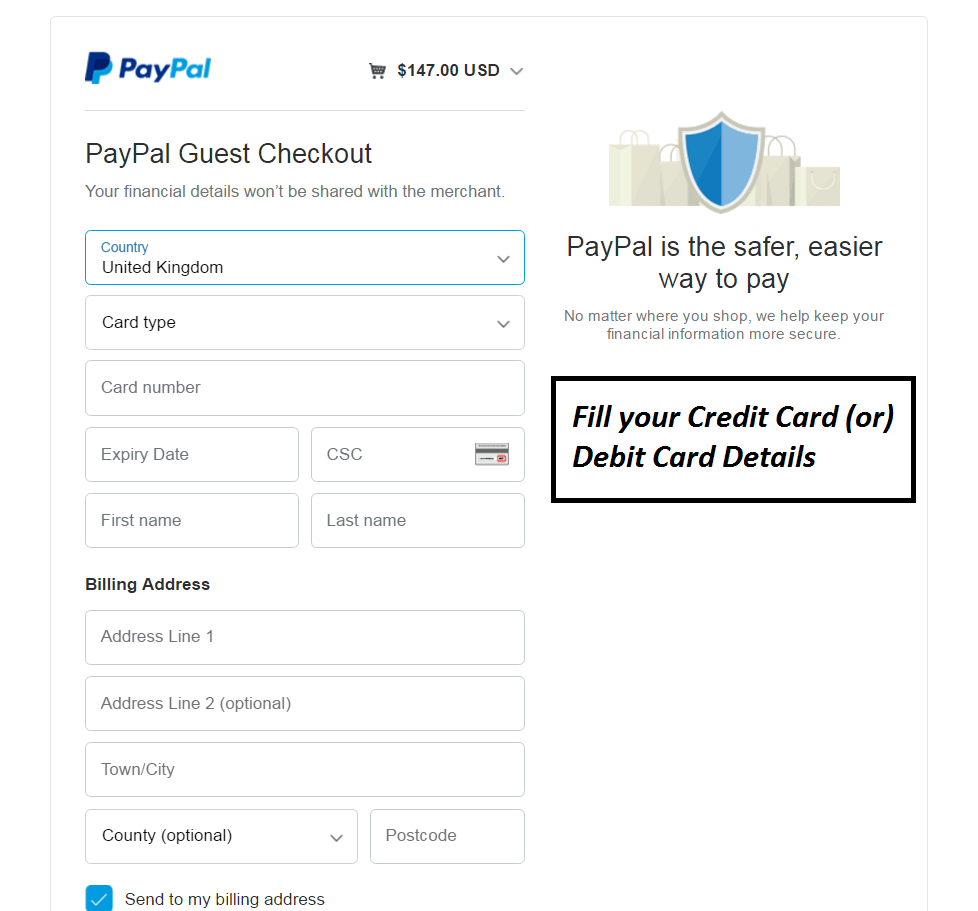 paypal accept both credit card and debit card payments