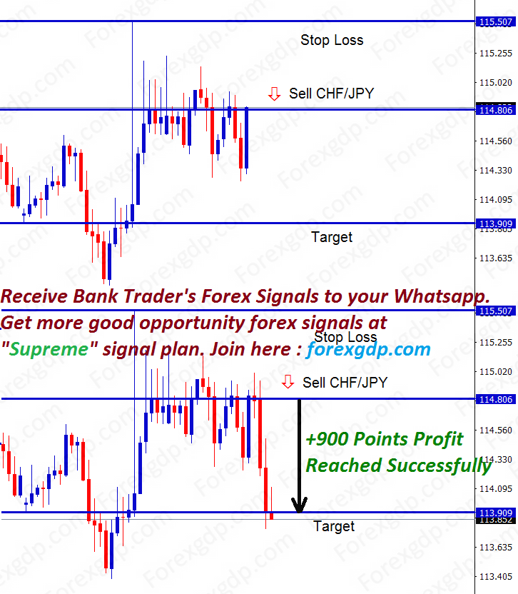 chf jpy forex trading only at good trade setup