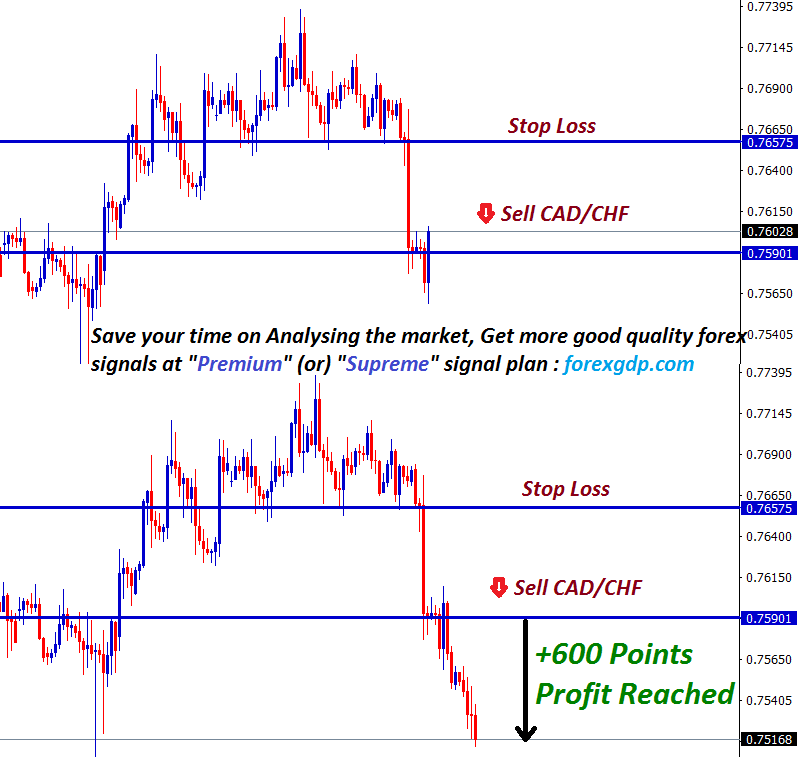 sell confirmation after reversal confirm in cadchf
