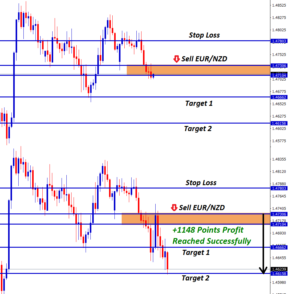 eurnzd technical sell signal for hitting support
