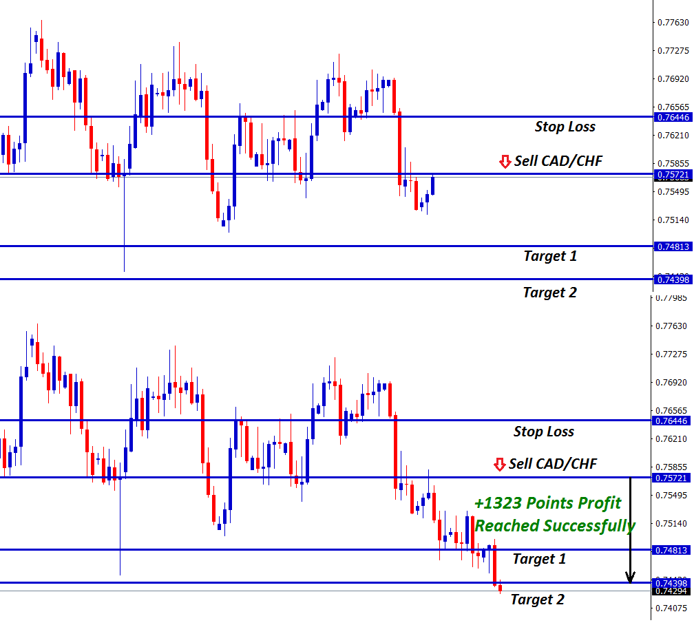cad chf forex signal trade reached 1323 points