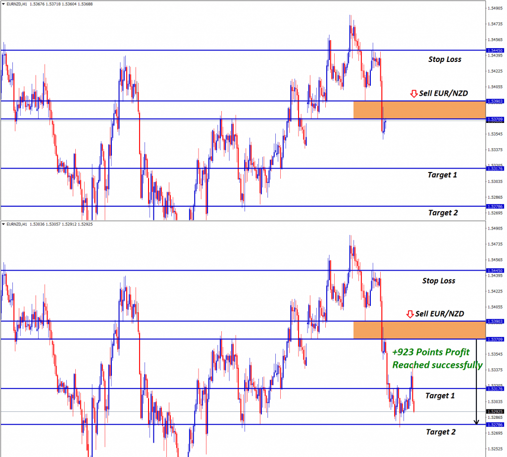 eur nzd technical analysis for selling hits 92 pips
