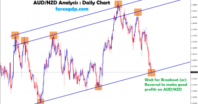 audnzd chart at higher lows