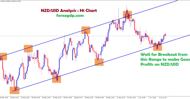 nzdusd chart pattern in ascending channel structure