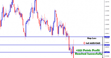 AUDCAD Tradingview at 1321 points