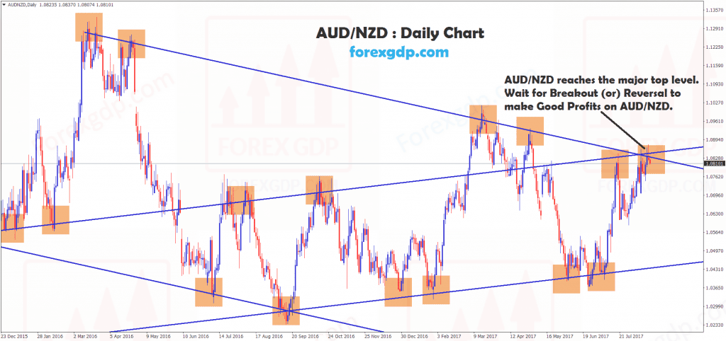 AUDNZD reach major top level in daily timeframe