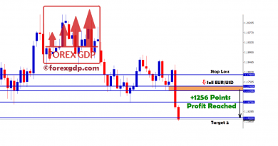 1256 points for eurusd sell achieved