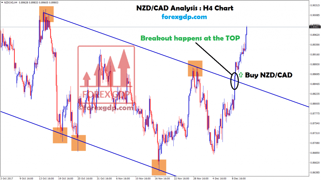 breakout happened at the top in nzd cad