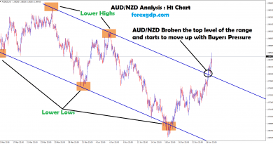 aud nzd broken the top level level of the range and move up