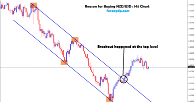 reason for buying nzd usd is its broken the top