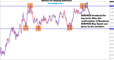 aftre breakout ,eur nzd buy signal given to the members