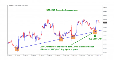 After the reversal usd cad buy signal given