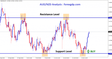 aud nzd touched support level and moving up in H4 chart