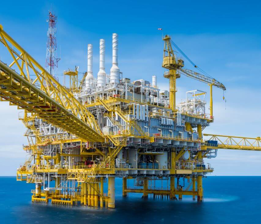 Oil and gas extraction from ocean