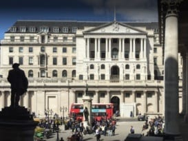 Bank of England front view