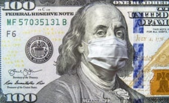 USD Coronavirus mask by benjamin Franklin