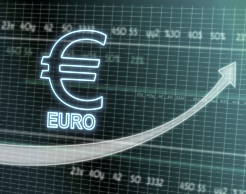 euro currency price soars