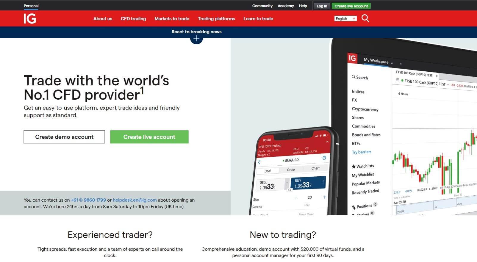 ig.com broker review homepage