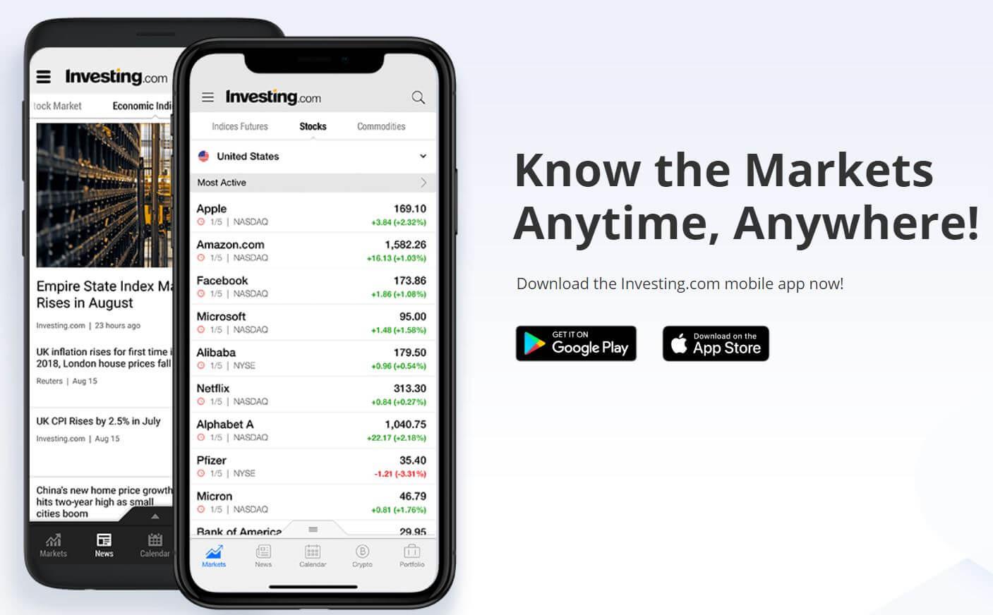 investing.com mobile app