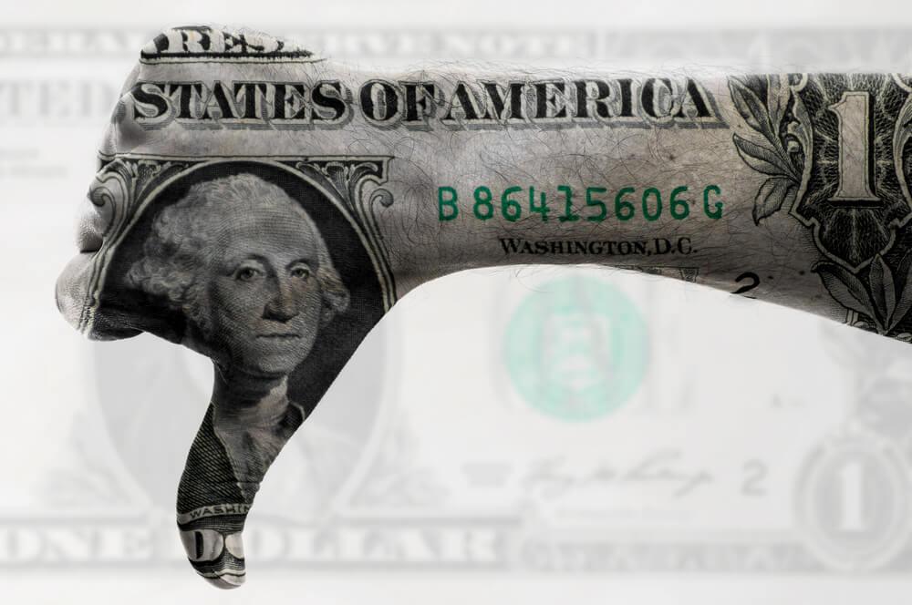 USD thumb down