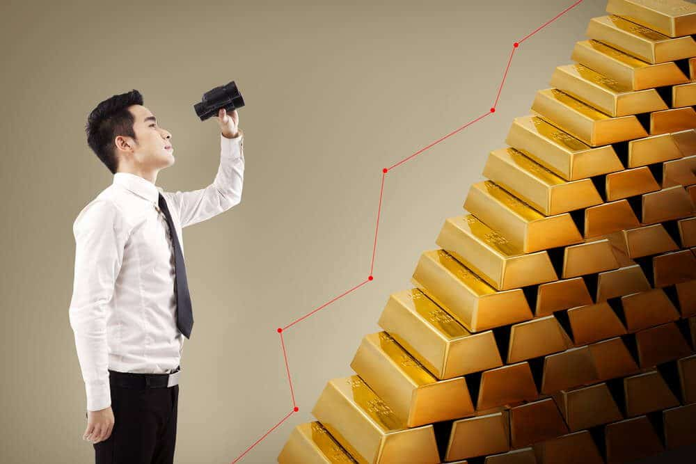 Gold bars price rising future view