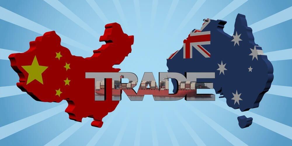 China and Austrlia Trade Export decline