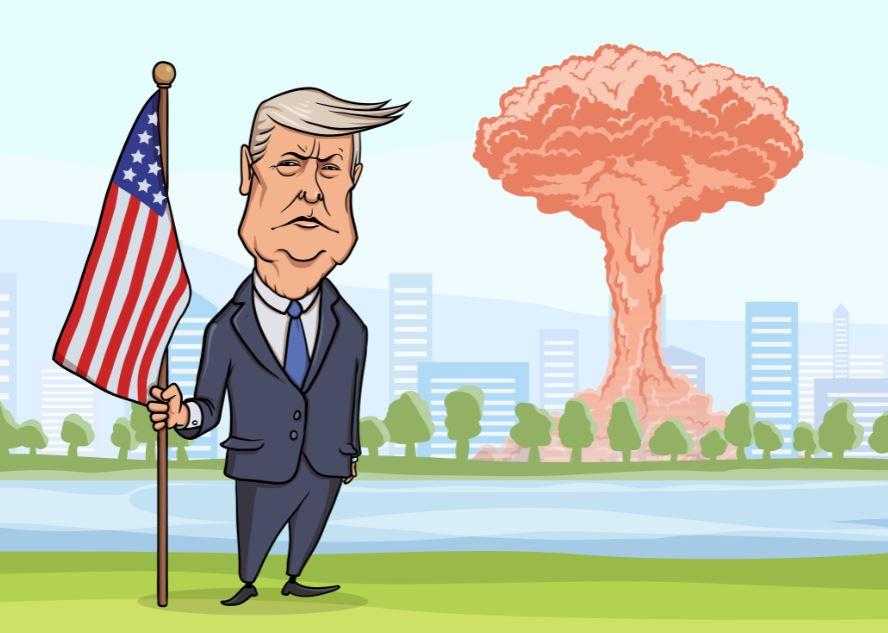 US President Trump bomb blast disaster