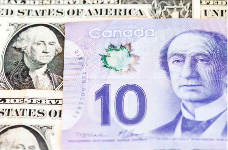 US dollar vs Canadian Dollar USDCAD