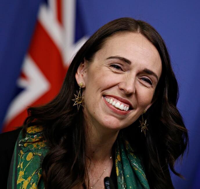 newzeland prime minister laughs