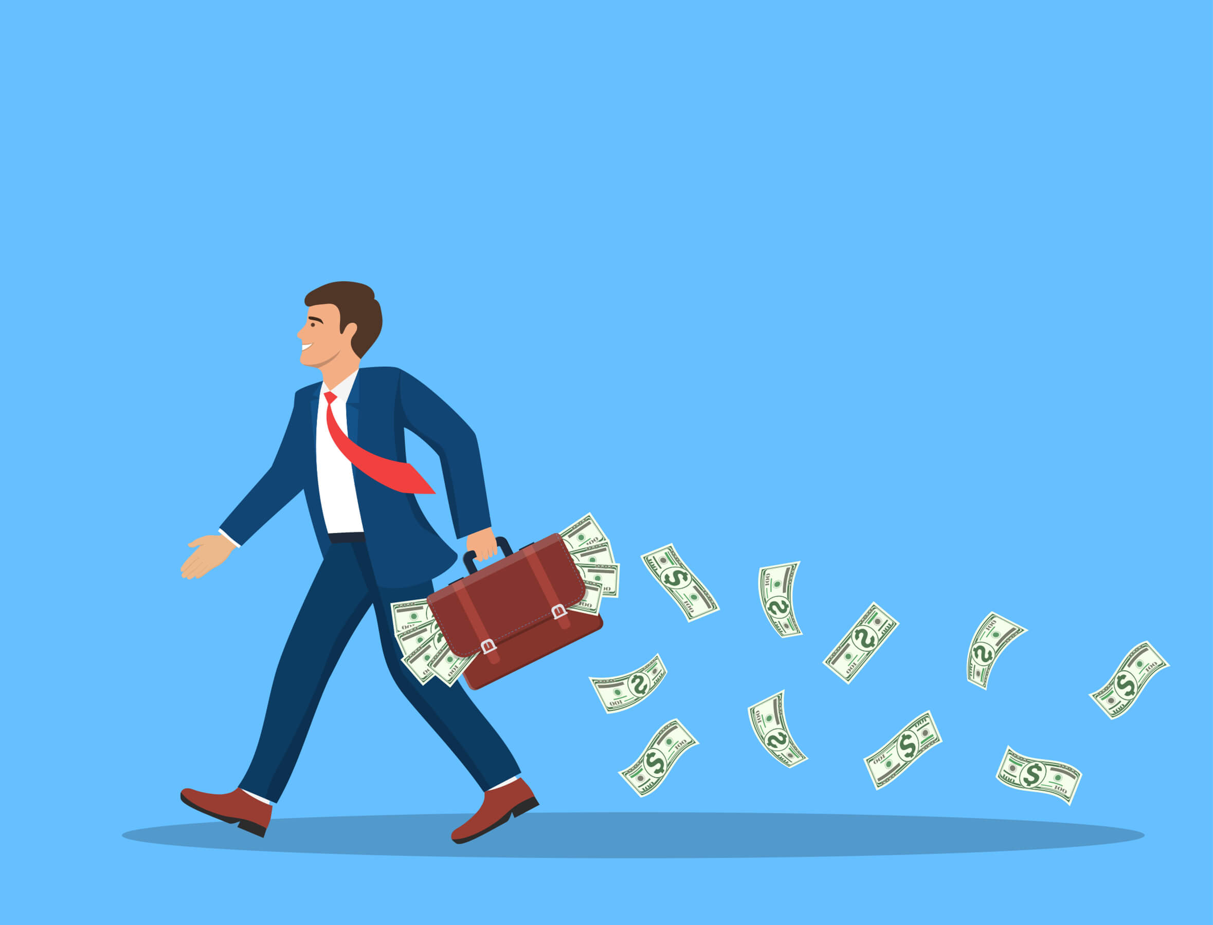 Cash falling and losing without knowing to the trader