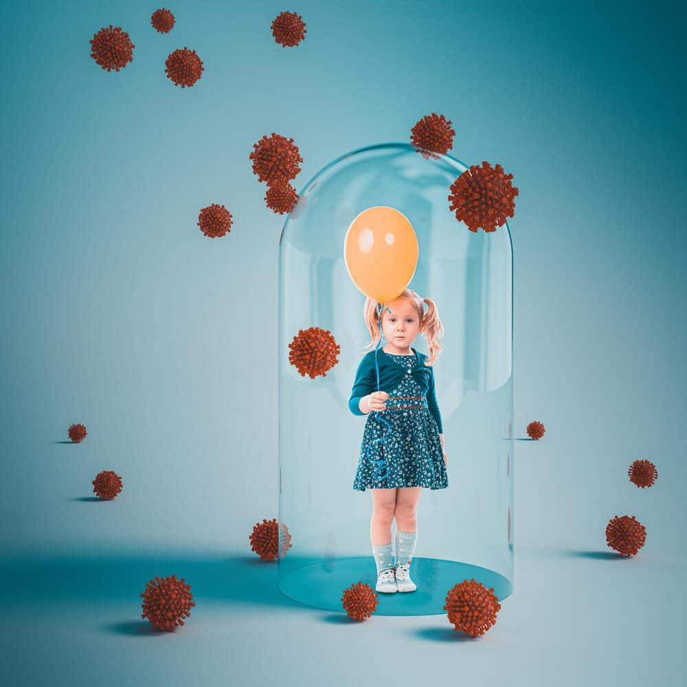 Coronavirus lock down made the lonely girl feel more