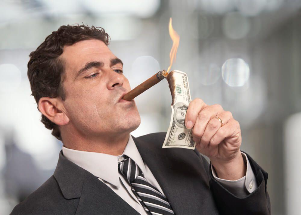 Improper money management Burn your money in trading online forex broker