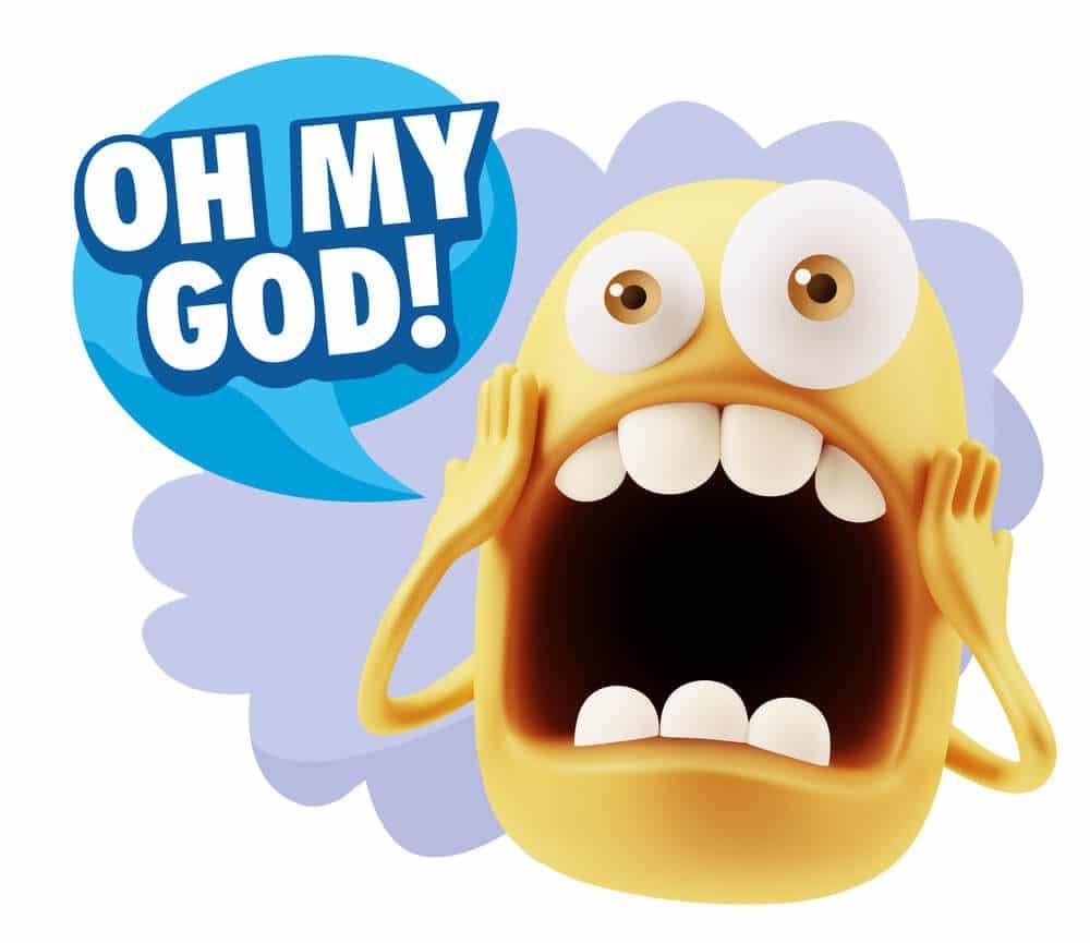 Oh my god A shocking emoji