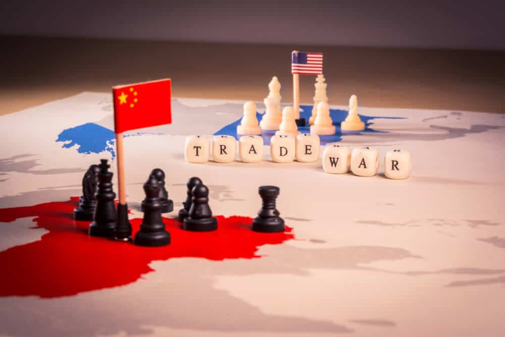 Trade war between the america and china