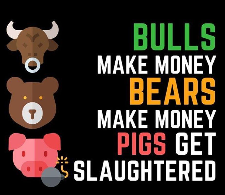 bulls bears make money pigs get slaughtered