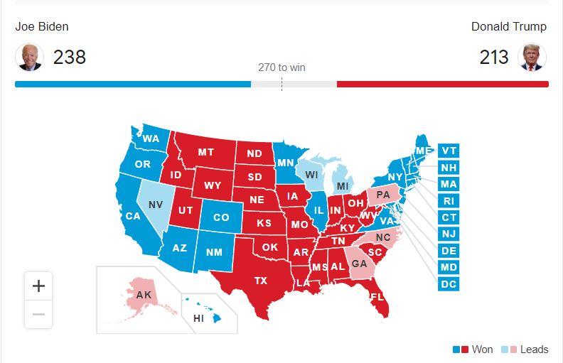 nov 3 us election counting votes trump and biden