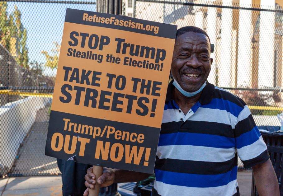 stop trump from racism by african american