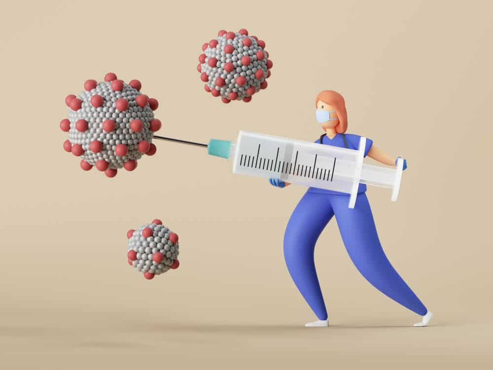 Covid 19 vaccine injected by nurse
