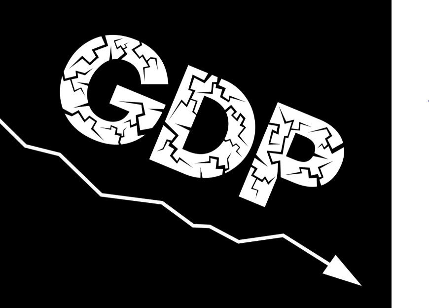 GDP of the country is negative and falling