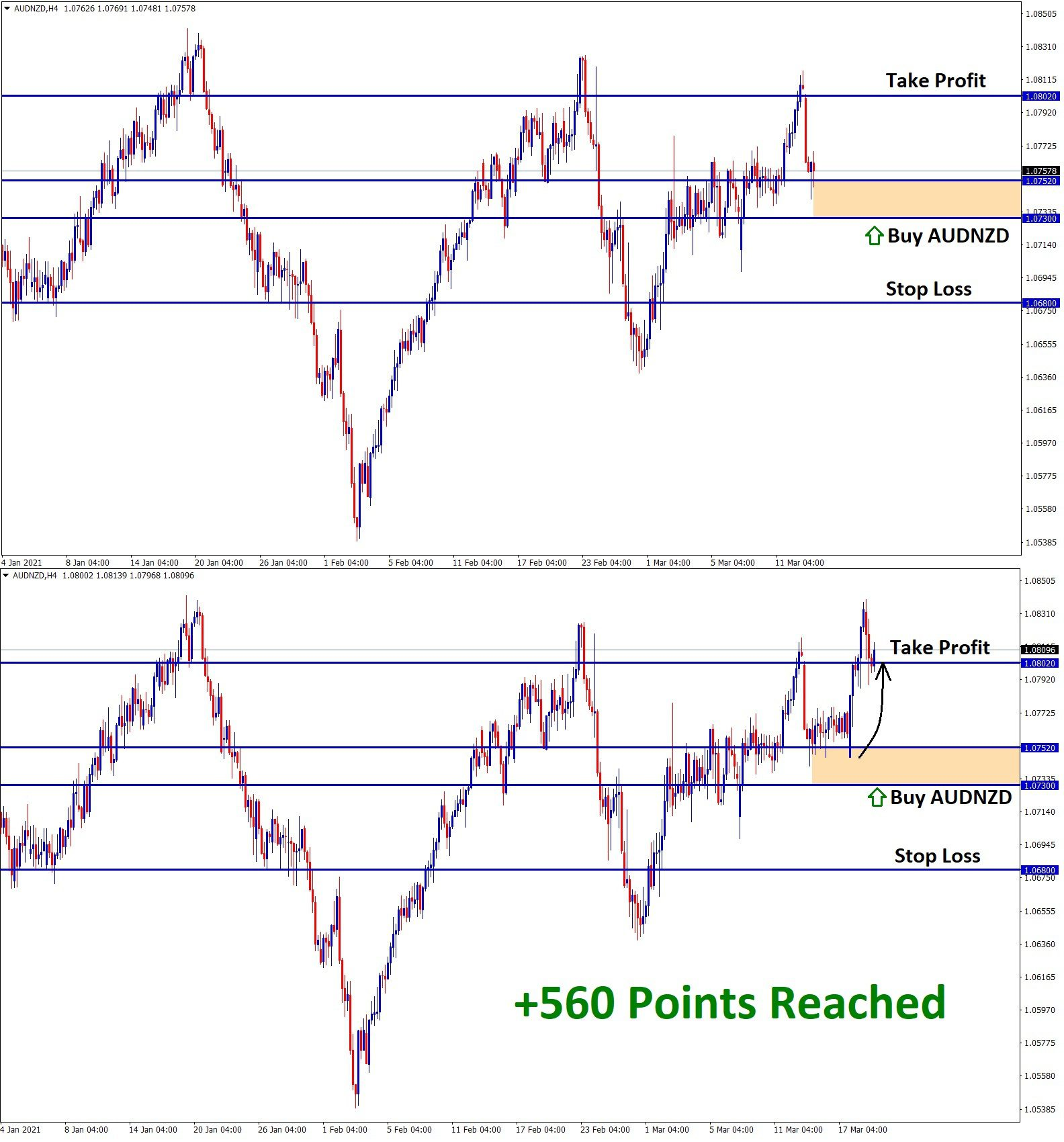 AUDNZD 560 Points Reached