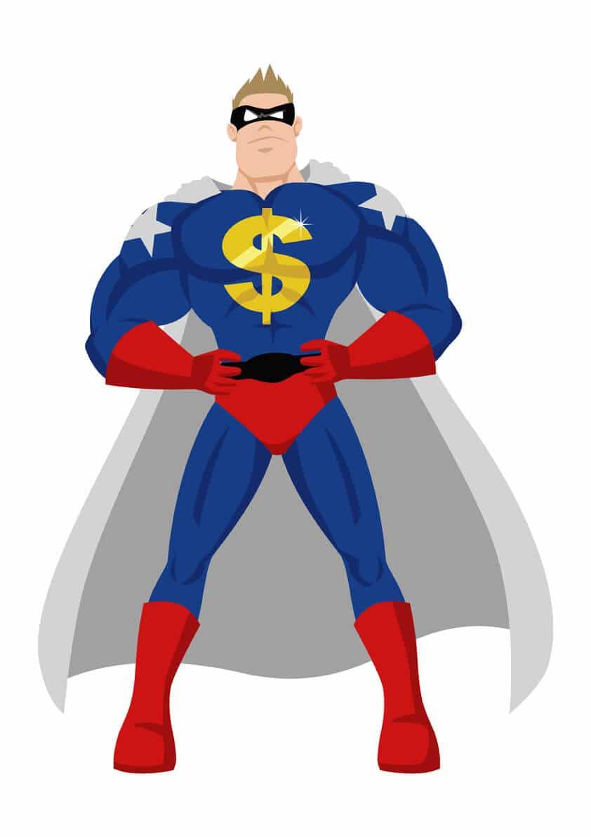 US Dollar symbol in superman