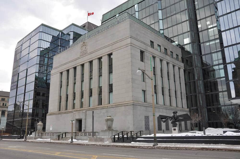 Bank of Canada building along Wellington street