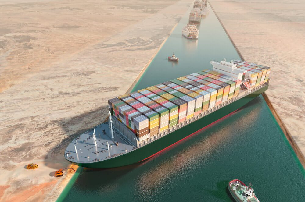 Ever Green stucked in Suez Canal