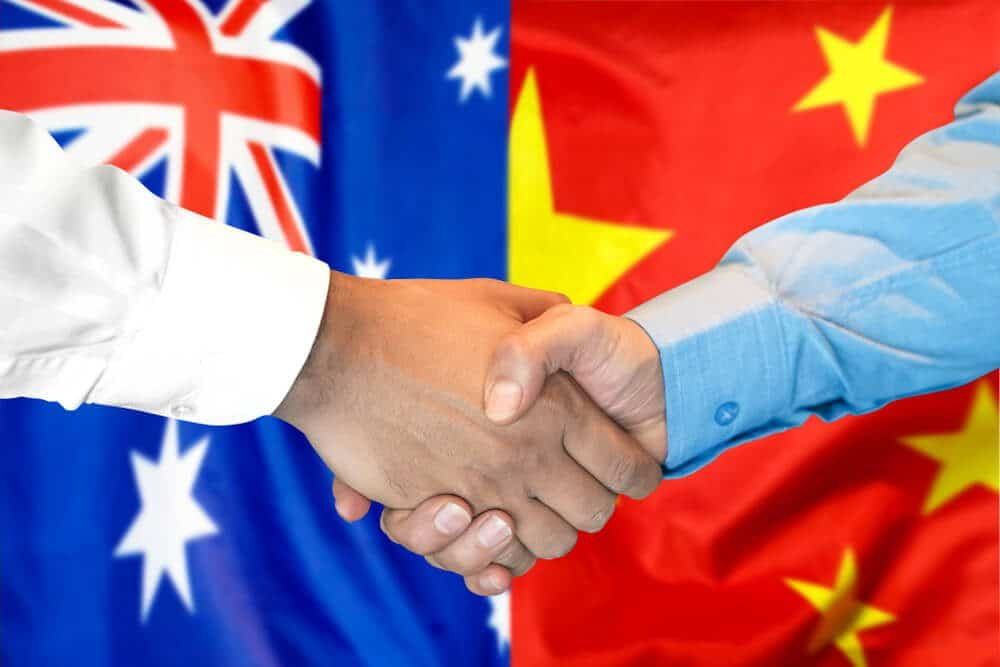 China is the largest trading partner of Australia