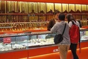 Gold prices climbed higher on Friday after the Disappointment of US Retail Sales and Consumer sentiments published.