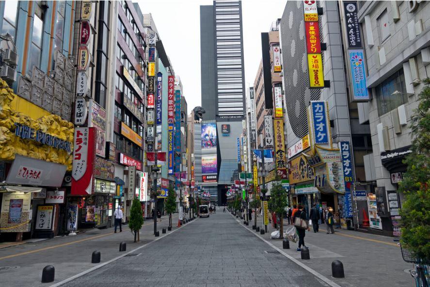 Japan lockdown Shinjuku Tokyo